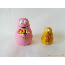 "Lot de 2 figurines ""Barbapapa"""
