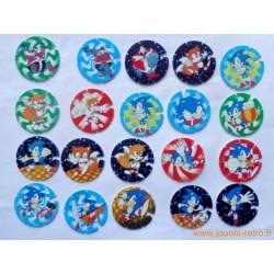 Lot Pogs Sonic Sega