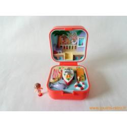 "boitier bague ""Lulu et son speadboat"" Polly Pocket 1991"