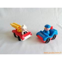 Set camion de pompiers + police Fisher Price