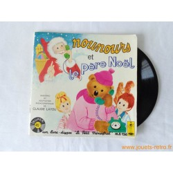 Nounours et le Père Noël - 45T Livre disque vinyle
