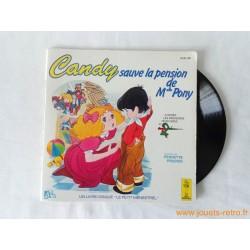 Candy sauve la pension de Mlle Pony - Livre disque 45T