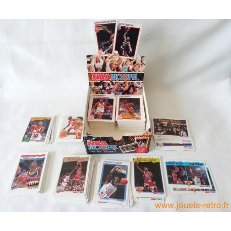 Gros lot cartes NBA Hoops 1991- 92 série 1 et 2 + boite