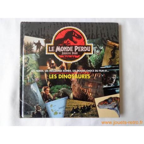 """Livre """"Le monde Perdu Jurassic Park"""" héros, scènes, dinosaures..."""