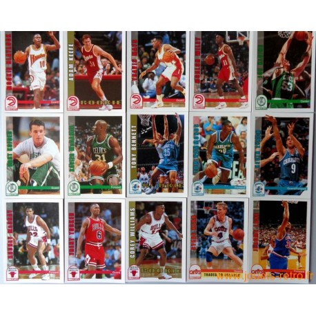 Lot 139 cartes NBA Hoops Skybox 1992-93 série 2