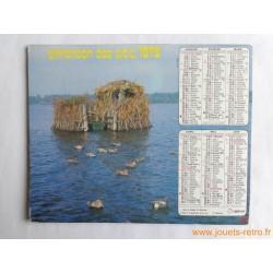 """Almanach des PTT 1979 """"chasse"""""""
