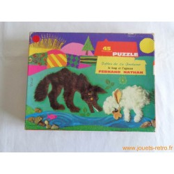 """Puzzle """"les fables de la fontaine"""" le loup et l'agneau par Nina"""