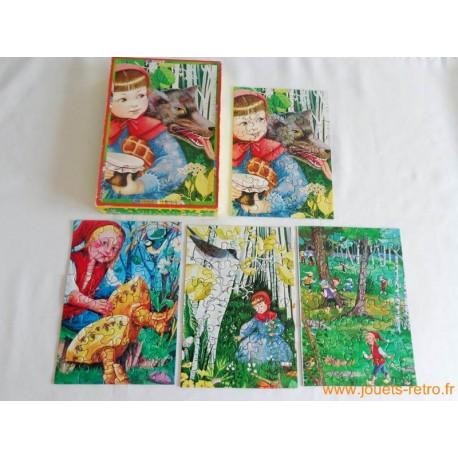 """4 puzzles Willeb """"Le petit chaperon rouge"""""""