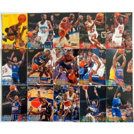 Set complet cartes NBA Fleer 96-97 série 1