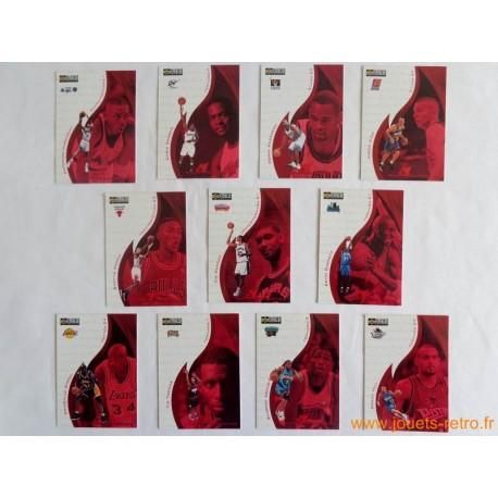 Lot 11 cartes NBA Upper Deck Collector's Choice 98 Hot Properties