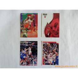 Lot 4 cartes NBA Michael Jordan