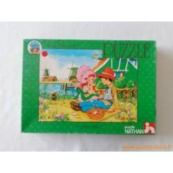 """Puzzle Miss Petticoat """"Le pique-nique"""" Nathan 1979"""