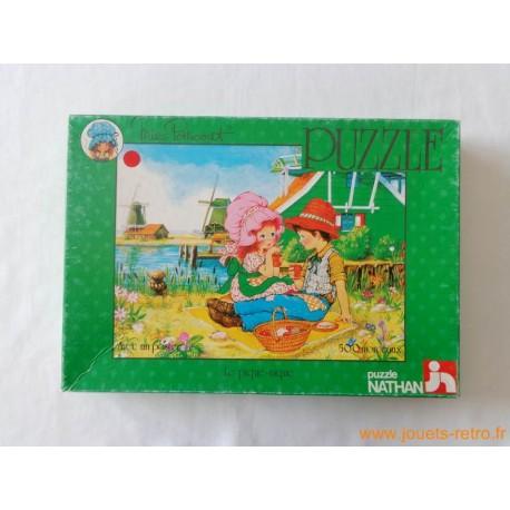 """Puzzles Miss Petticoat """"Le pique-nique"""" Nathan 1979"""