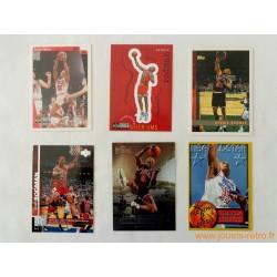 "Lot 6 cartes NBA spéciales Insert ""Dennis Rodman"""