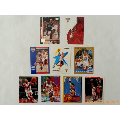 "Lot 9 cartes NBA spéciales Insert ""Pippen"""