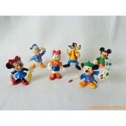 """Lot figurines """"Mickey et ses amis"""" Bully"""