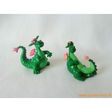 "Lot figurines ""Peter et Elliott le Dragon"" Bully"