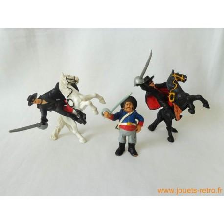 "Lot figurines ""Zorro"" Bully"
