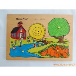 Puzzle en bois l'école Fisher Price 1982