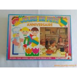 Jour de fête anniversaire - jeu Nathan 1985