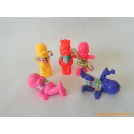 """""""Les Babies"""" lot de 5 figurines fluo + habits"""