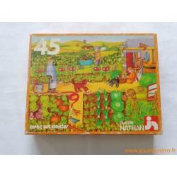 """""""Le jardin potager"""" puzzle Nathan 1981"""