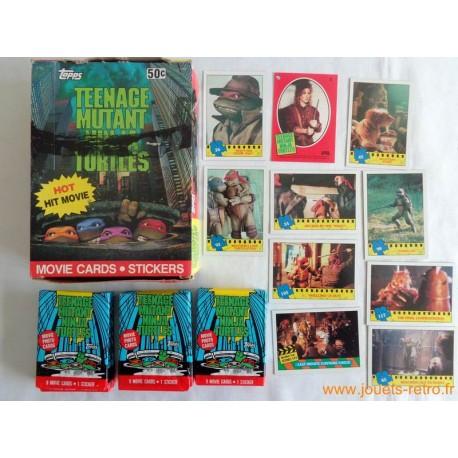 """1 paquet de cartes """"Tortues Ninja"""" Topps 1990"""