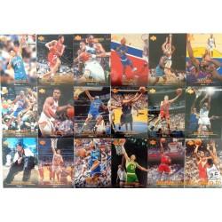 Lot 45 cartes NBA Upper Deck 1995