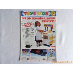 """Catalogue jouets Toys""""R""""Us Noël 1988"""