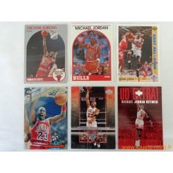 Lot 6 cartes NBA Michael Jordan