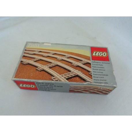 Jouets De Vintage Rétro Lego Neuf Objets Jeux Livres 7851 Rails Courbes Société Vidéo Ref 45jARL3