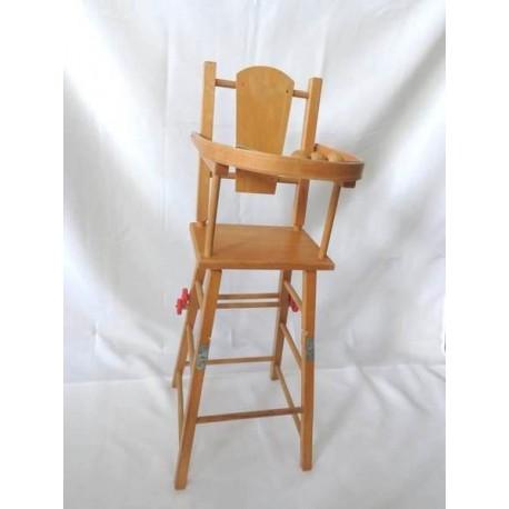 Chaise haute de poup e en bois jouets r tro jeux de soci t jeux vid o livres objets vintage for Chaise haute bois