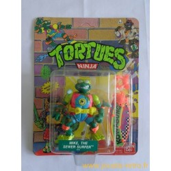 Mike, the Sewer Surfer - Wacky Action 1990 Playmates - TMNT Les Tortues Ninja