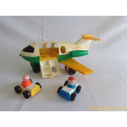 Avion + voitures + personnages Fisher Price