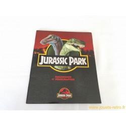 Livre Jurassic Park - Galliminus et Vélociraptor
