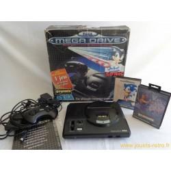 Pack console Sega Megadrive Sonic + Strider en boite