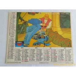 Almanach des PTT 1986 Les Maitres de l'Univers