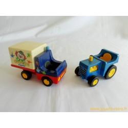 Camion Circus + Tracteur Playmobil 1990