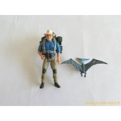 Jurassic Park - Dr Alan Grant + bébé Ptéranodon figurine Kenner 1993