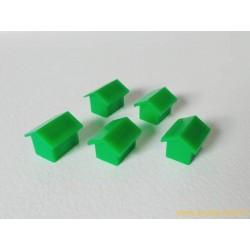 Monopoly Lot de 5 maisons vertes Modèle 1
