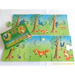 Puzzle scène le corbeau et le renard Nathan 1979