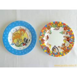 Lot de 2 assiettes Arcopal Disney