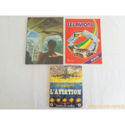 Lot albums vignettes aviation