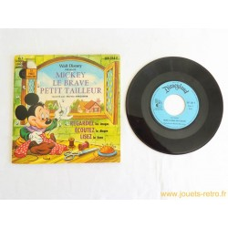 Mickey le Brave petit tailleur - 45T Livre disque vinyle