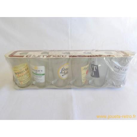 6 verres Luminarc Whisky vintage