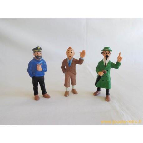Lot figurines Tintin Bully