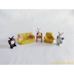 Set living room des lapins Mini Sweety - Vivid Imaginations