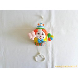 Boite à musique Clown vintage