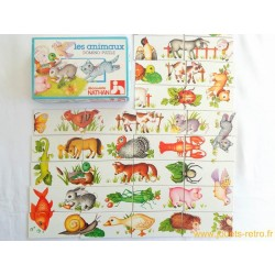 Domino Puzzle Les animaux - Jeu Nathan 1979