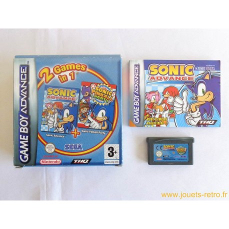 Sonic Advance + Sonic Pinball Party - Jeu Game Boy Advance